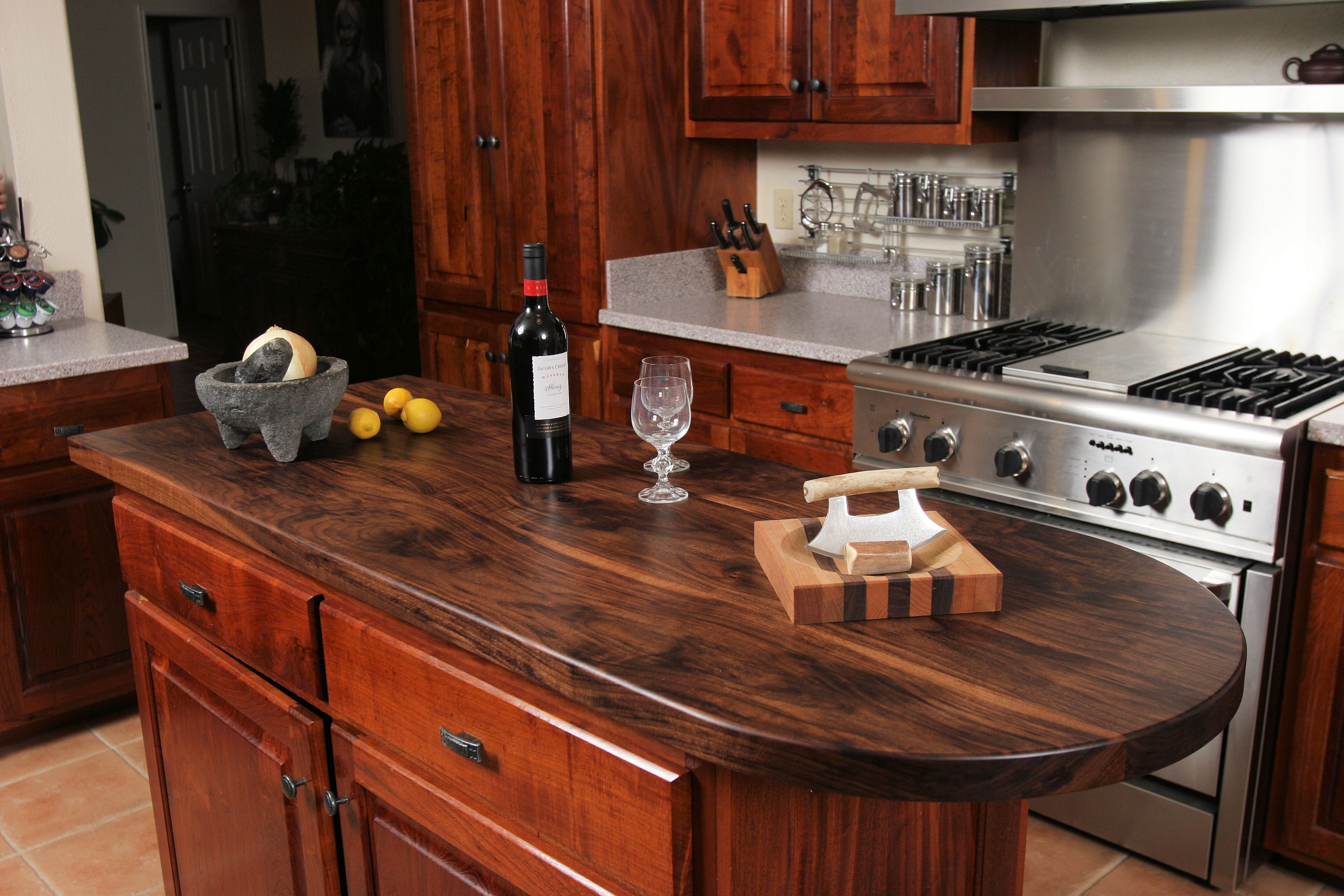 Rustic Wood Kitchen Countertops Wood Kitchen Countertopsi Like This Butcher Block Counter Would