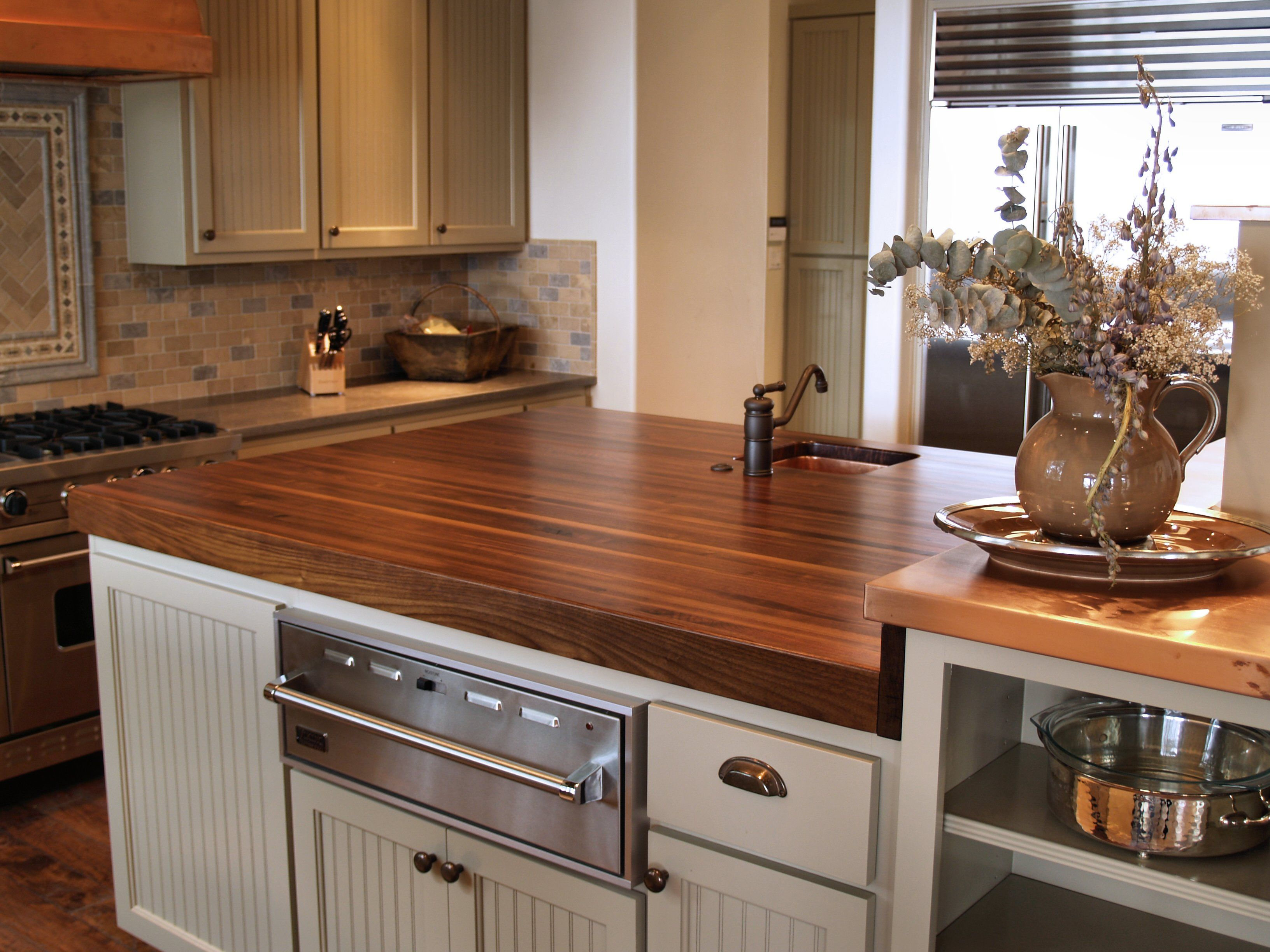 Kitchen Island Countertops : Walnut wood countertop photo gallery by devos custom