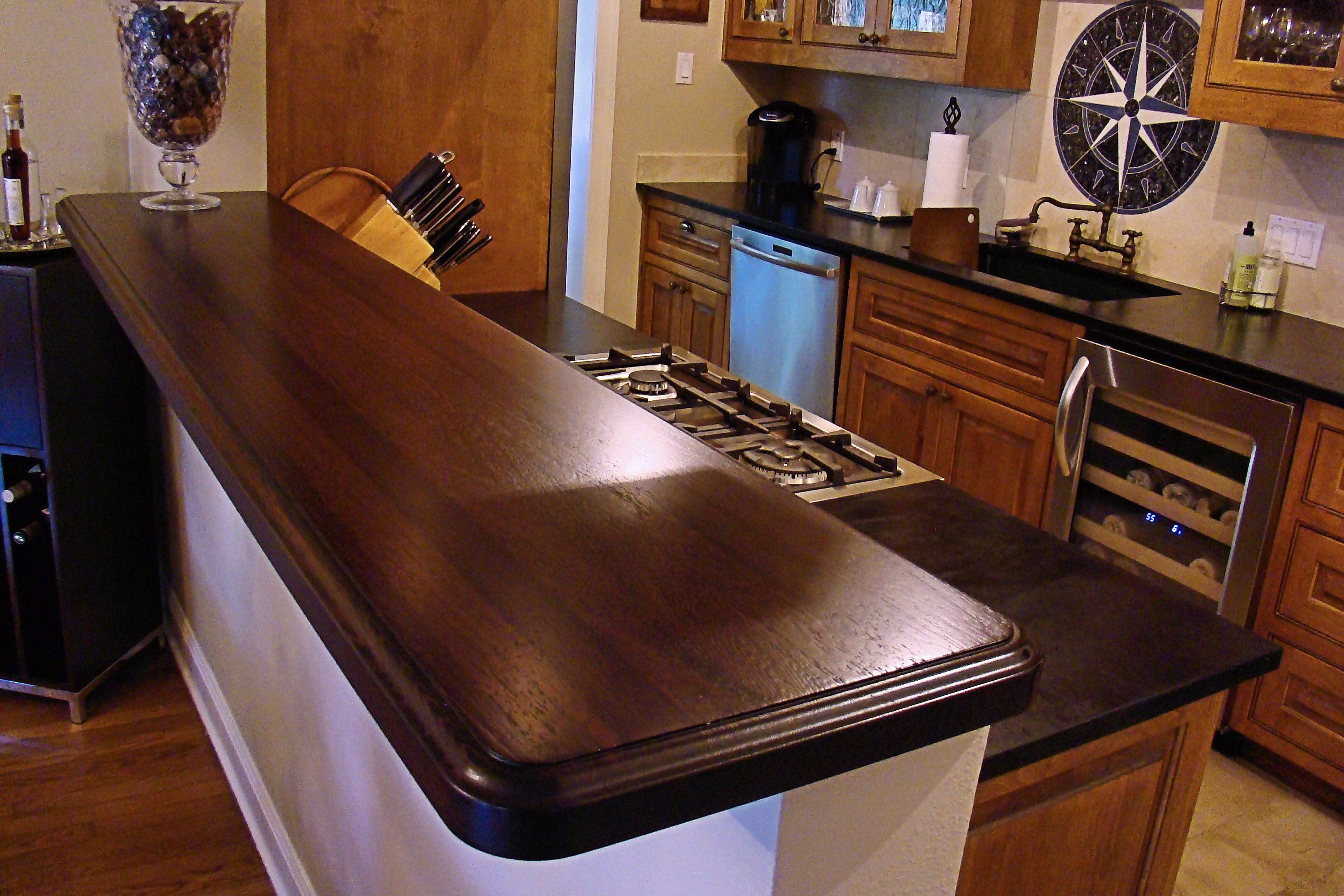 Wood Bar Top Wenge Wood Countertop Photo Gallery By Devos Custom Woodworking