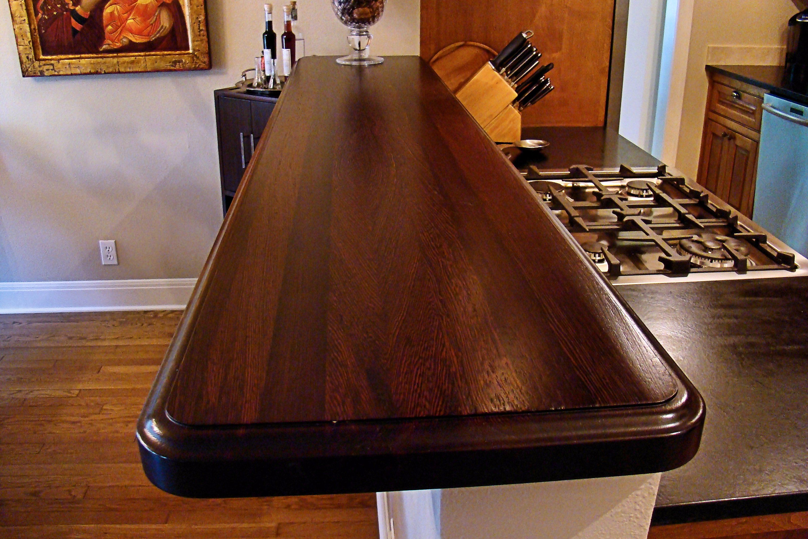 Wenge wood countertop photo gallery by devos custom - Table basse bar wenge ...