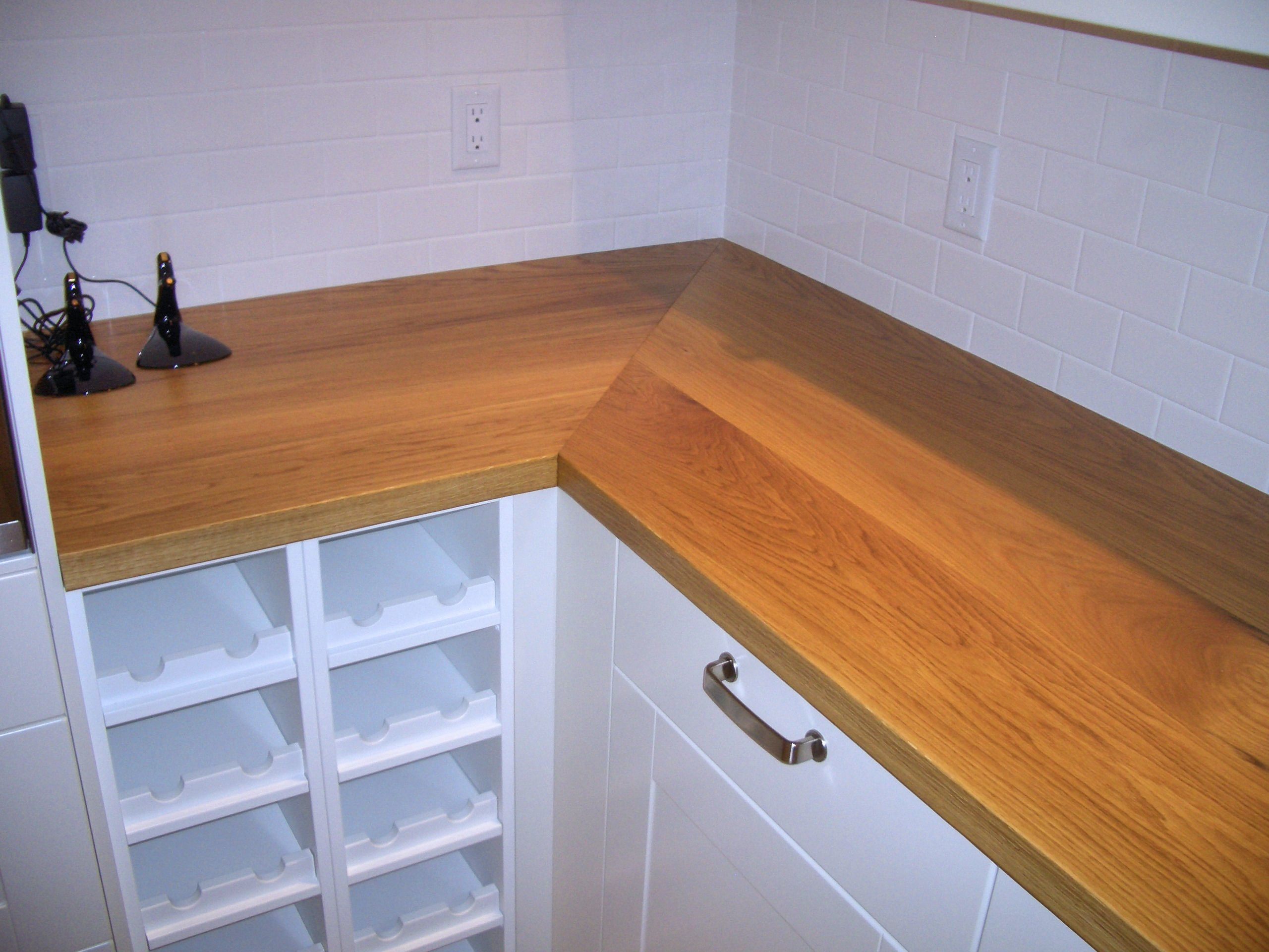 White Oak Face Grain Custom Wood Countertop.
