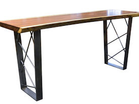 Custom Bar Table Using A Guanacaste Slab Top With Natural Edges And A  Waterlox Satin Finish ...
