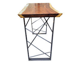 ... Custom Bar Table Using A Guanacaste Slab Top With Natural Edges And A  Waterlox Satin Finish ...