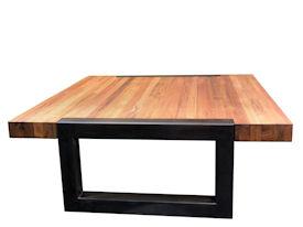 Devos Custom Woodworking Custom Wood Tables With Metal Bases