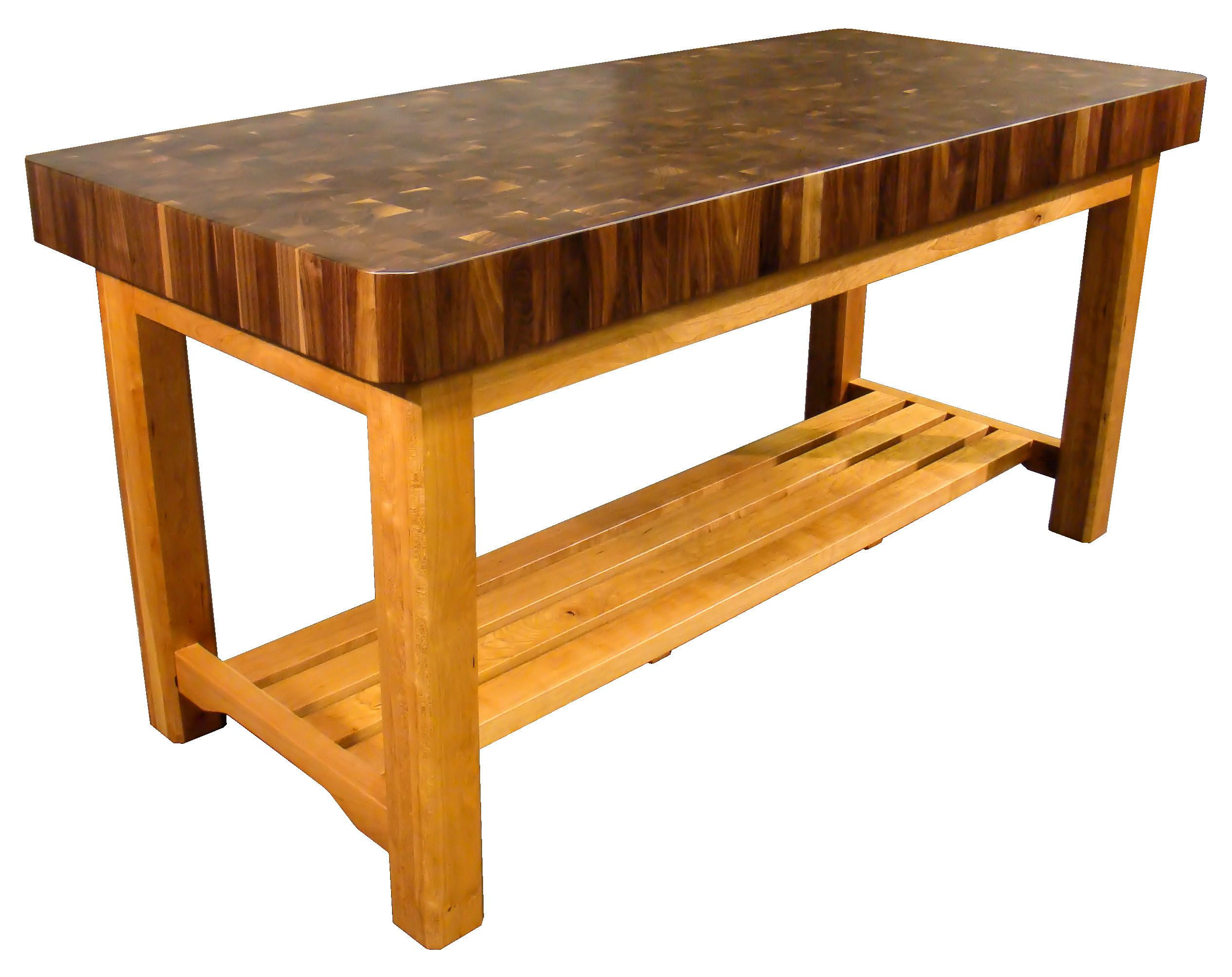 DeVos Custom Woodworking Custom Wood Tables with Shelves