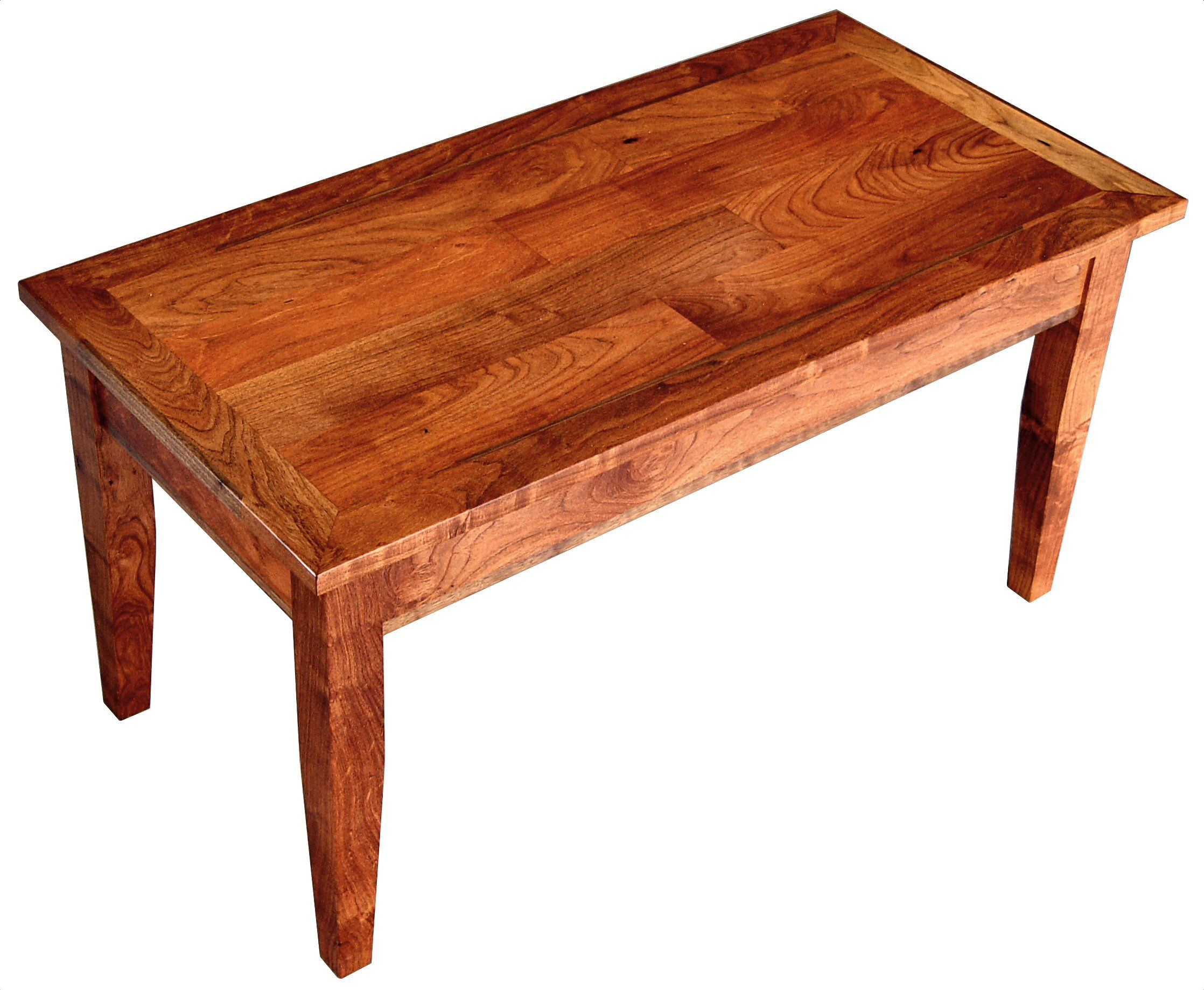 Face Grain Shaker Style Coffee Table With Randomly Jointed Boards In A