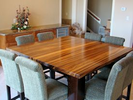 ... Custom Zebrawood Table With A Solid Wenge Base. This Table Also Has Two  Large Leaves ...