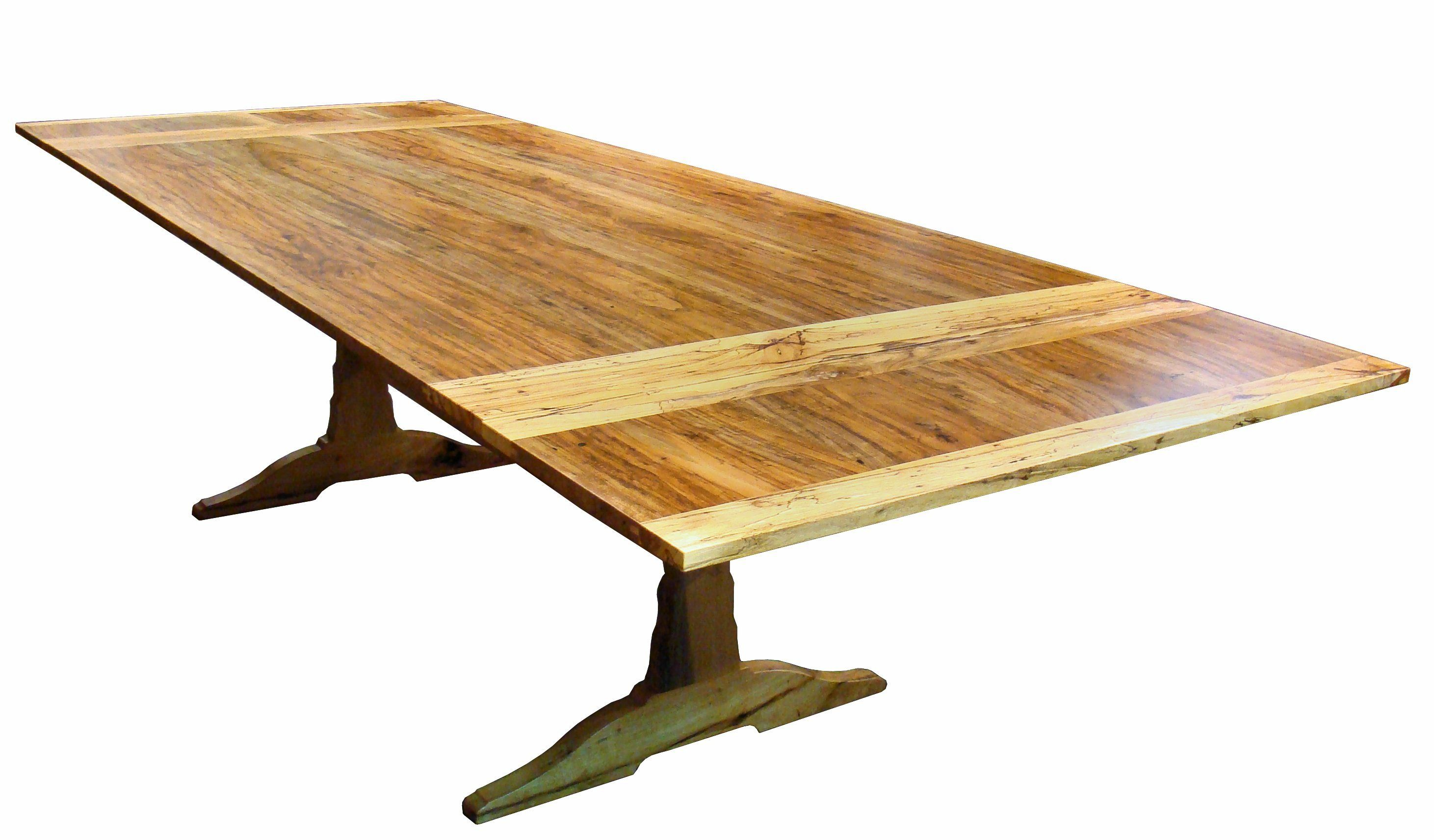 how to build a trestle table with leaves