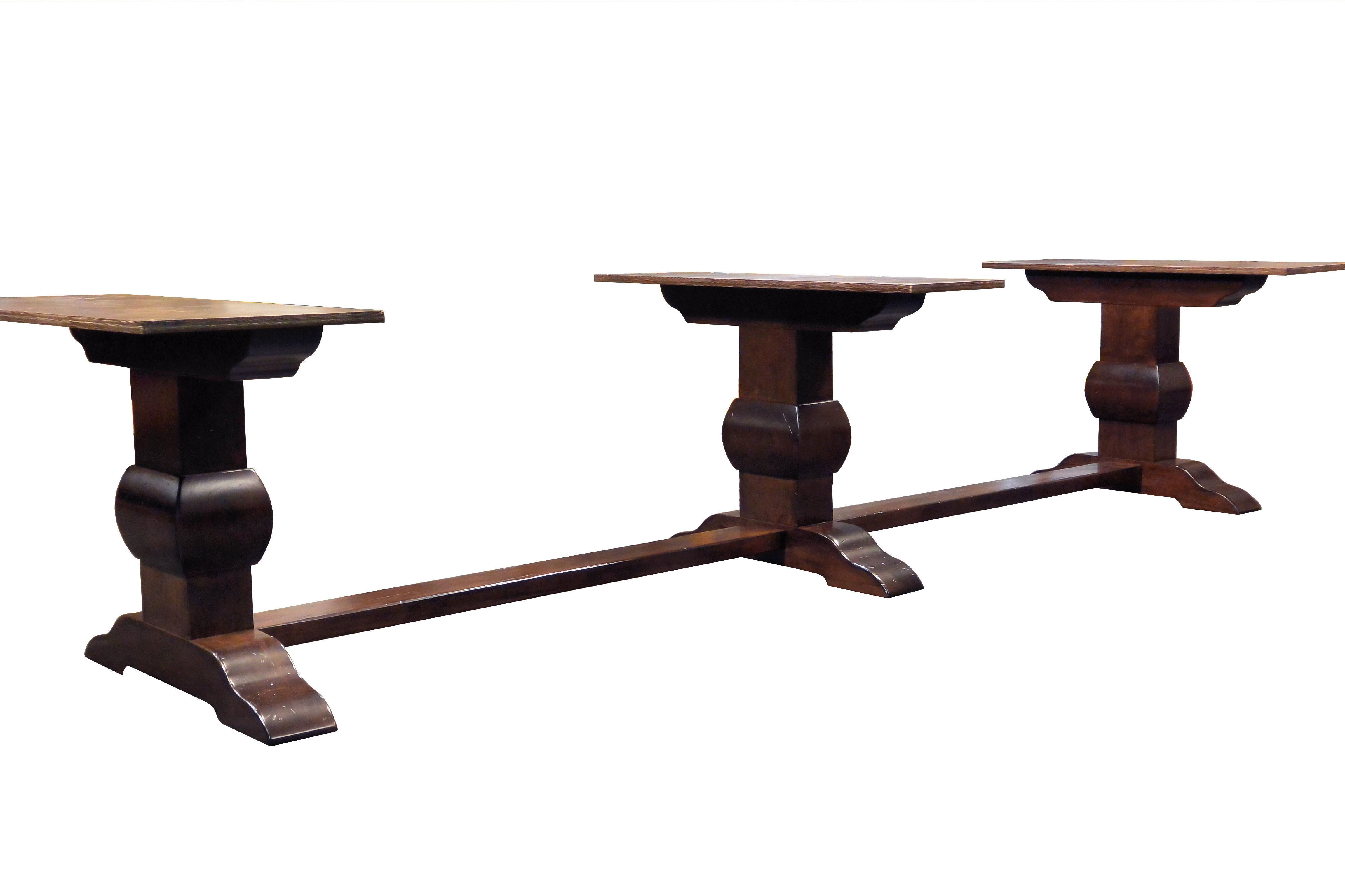 Devos Custom Woodworking Custom Trestle Style Tables