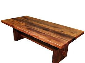 Devos Custom Woodworking Custom Trestle Style Tables