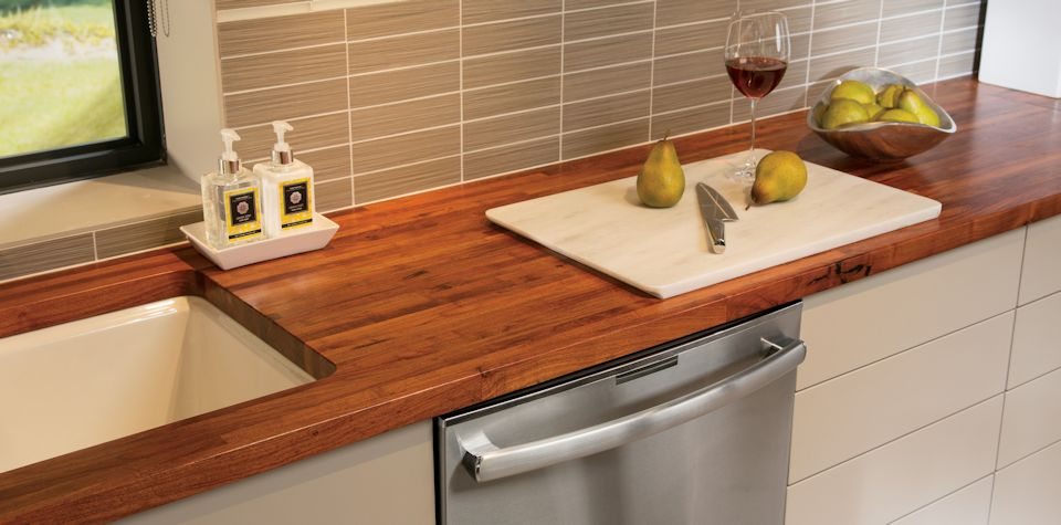 Amazing Mesquite Wood Countertop With Undermount Sink
