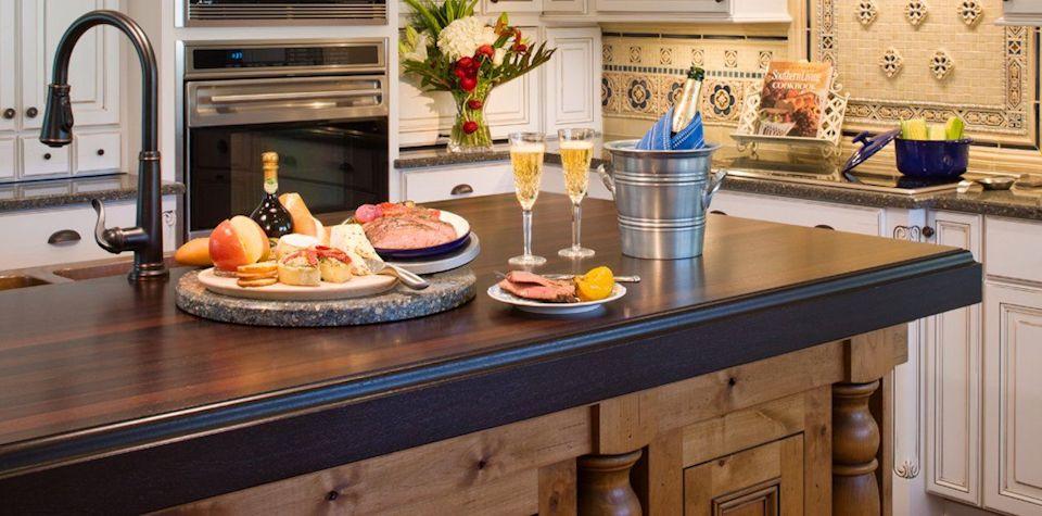 custom wood countertop options - edge profiles