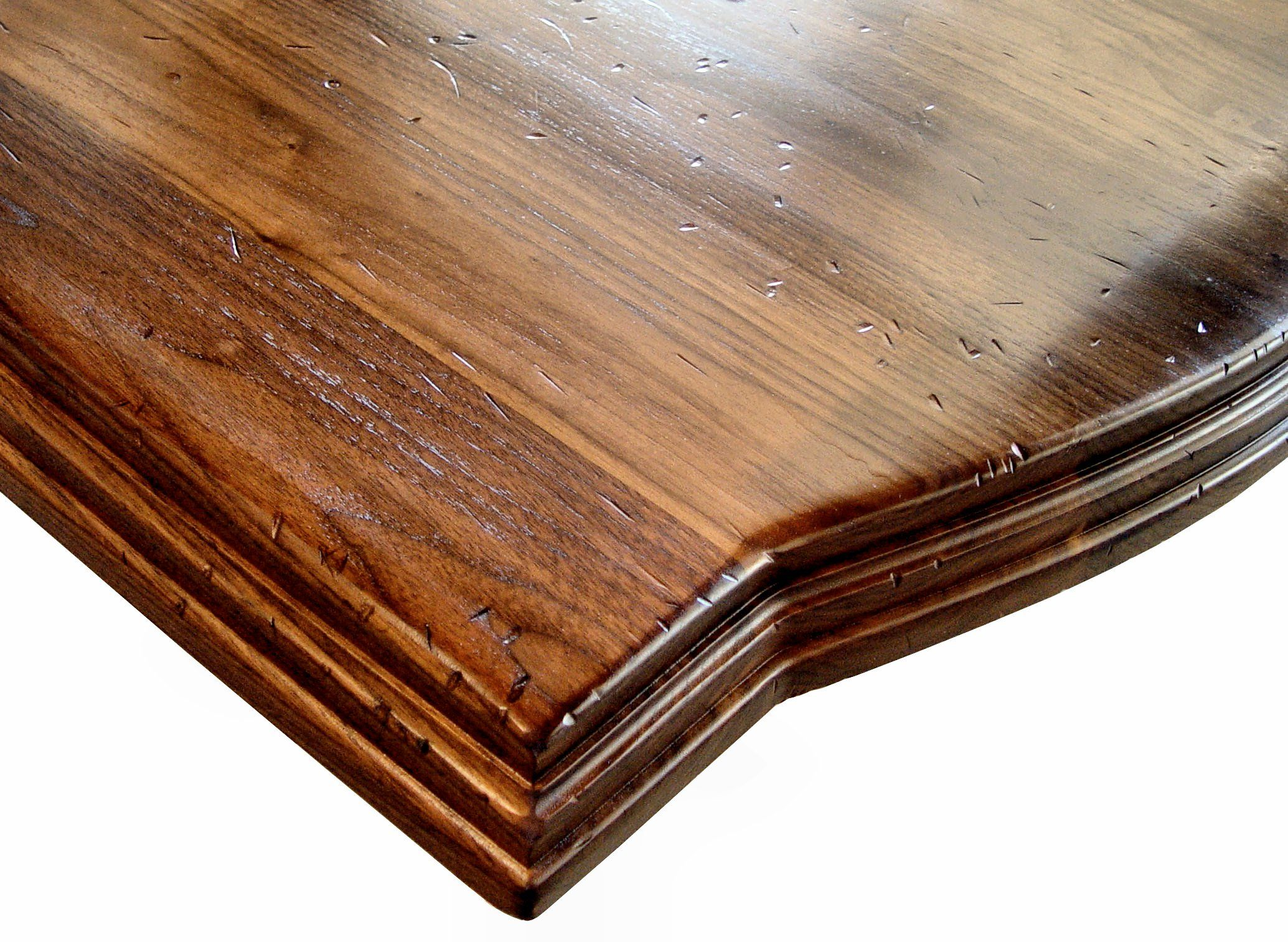 Face Grain Walnut Island Top With Distressing