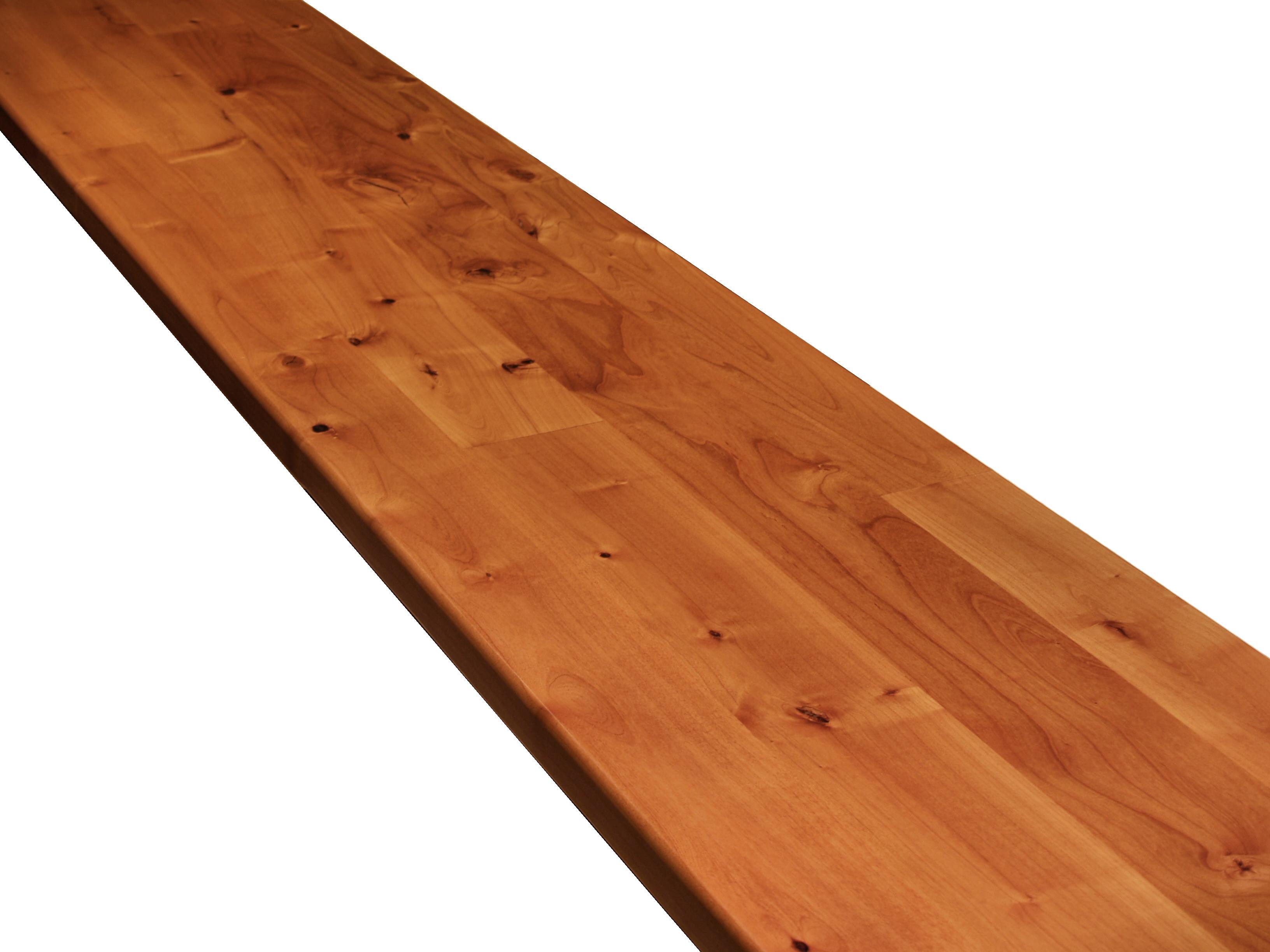 Alder Face Grain Custom Wood Island Countertop
