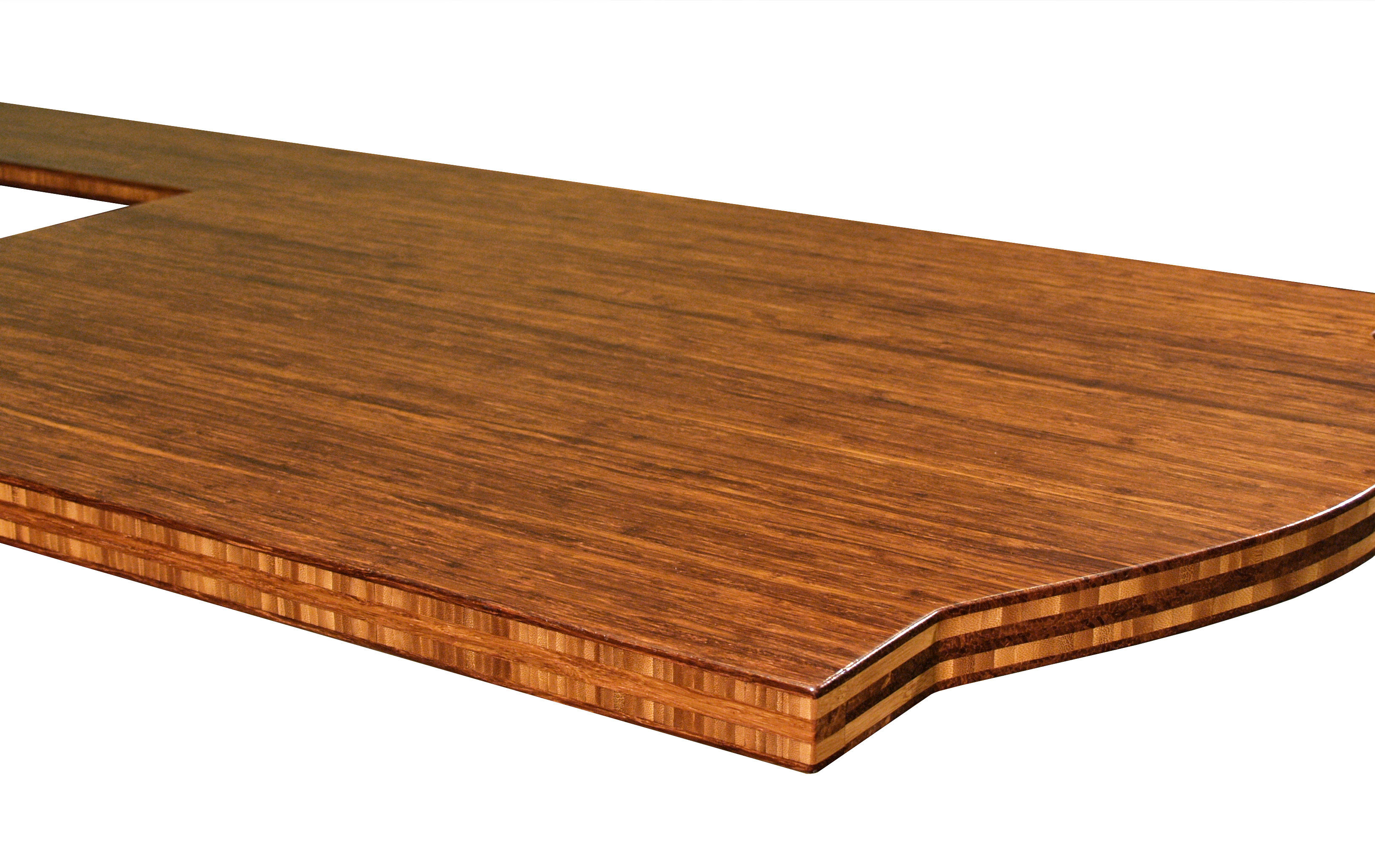Bamboo Face Grain Custom Wood Island Countertop