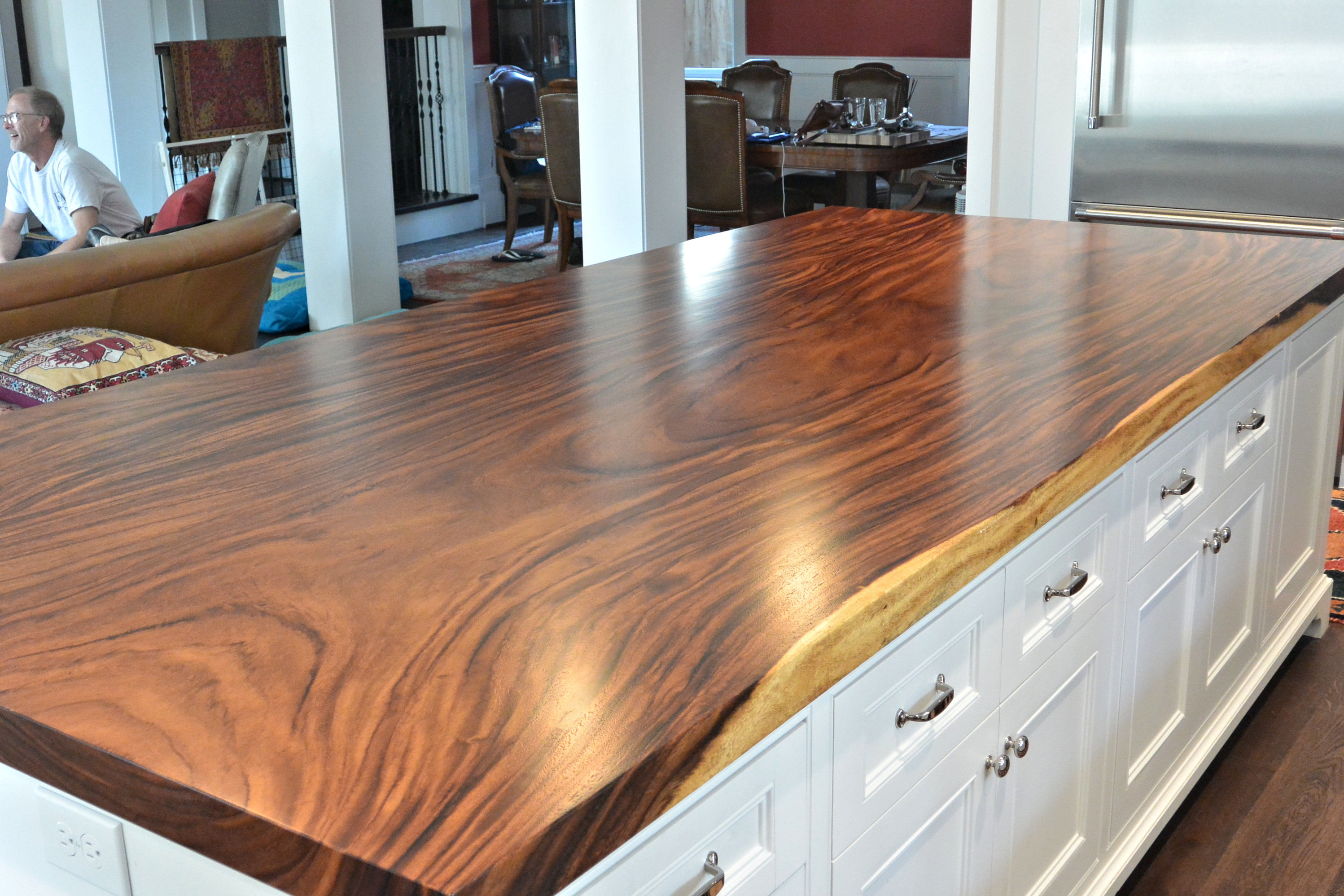 Guanacaste Parota Wood Slab Floating Countertop