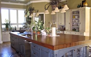 Custom Wood Countertops Kitchen Island