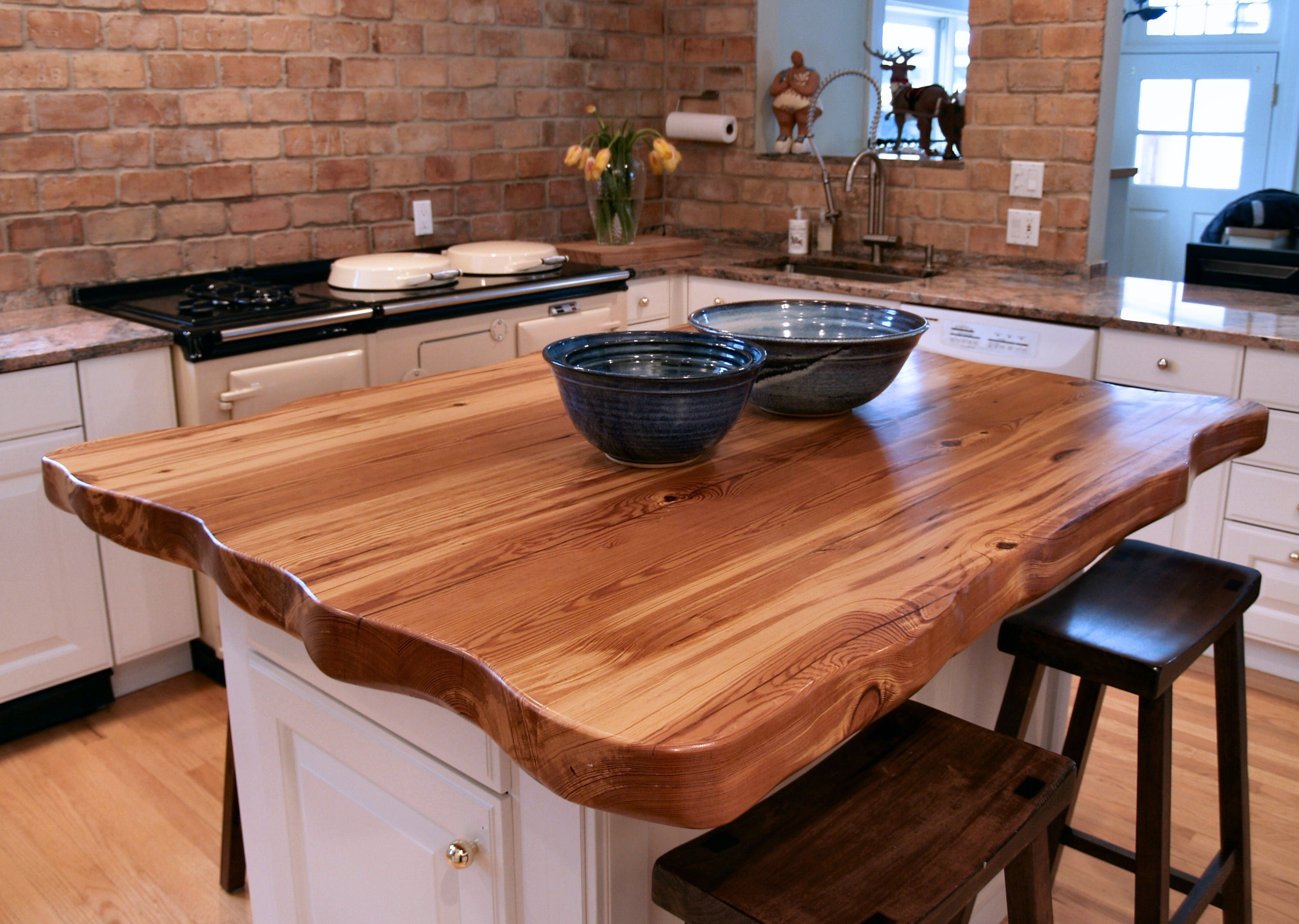 kitchen island butcher block tops reclaimed longleaf pine wood countertop photo gallery by 24746