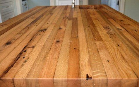 Reclaimed White Oak Wood Countertop