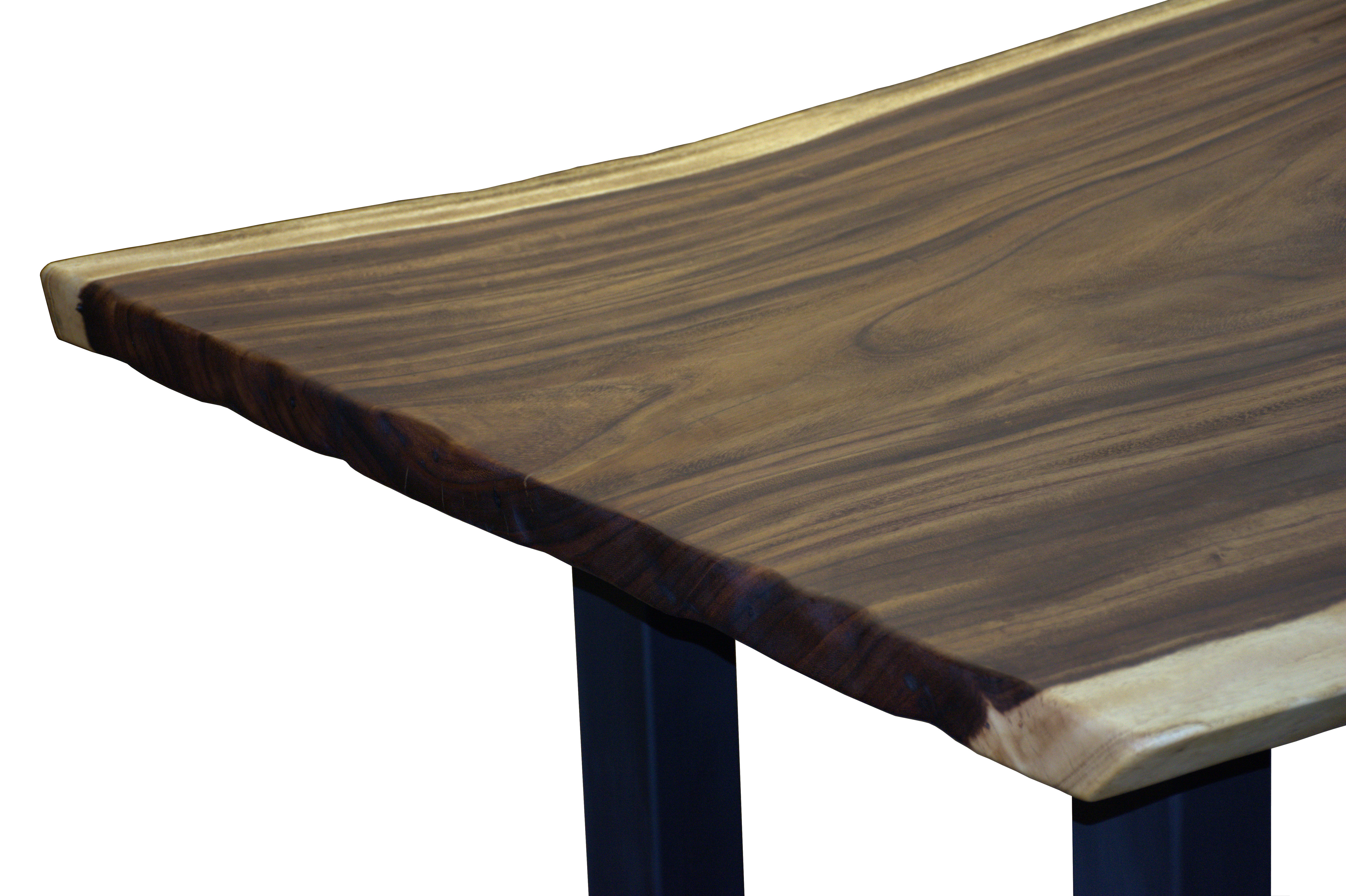 Custom dining table using a Guanacaste Slab Top with Natural Edges and ...