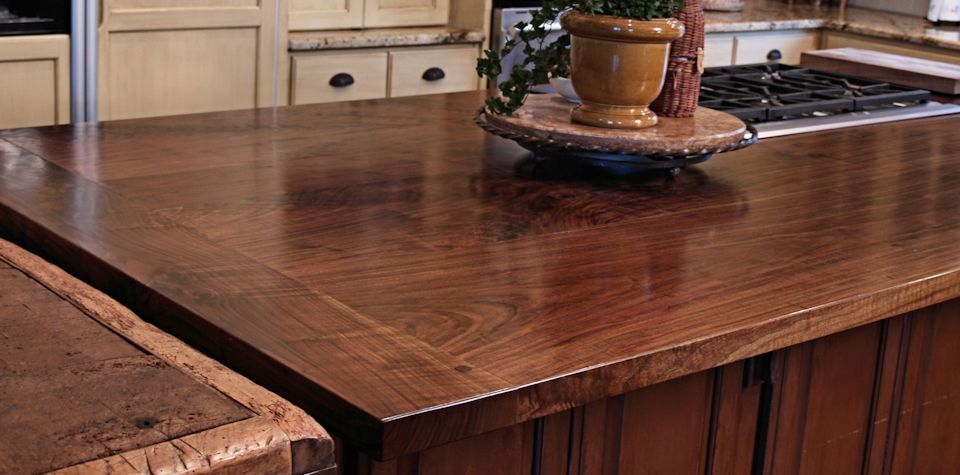 Custom Wood Countertops Kitchen Island